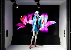 "SANAHUNT LUXURY CONCEPT STORE, Kiev, Ukraine, ""The graphic quality and geometry gave way to a riot of colors and flowers"", pinned by Ton van der Veer"