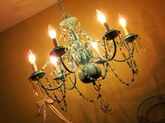 Whimsical crystal chandelier - love it!