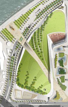 Beirut Waterfront Park, Lebanon. Landscape Arhitecture by Martha Schwartz Partners. www.marthaschwartz.com: