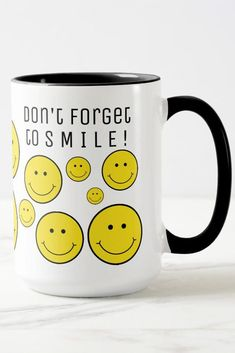 Don't forget to smile! This Grinning Smile mug is a reminder to smile. #smile #grin #face (affiliate link)