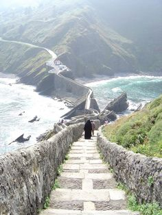 San Juan de Gaztelugatxe on the coast of Biscay Basque Country, Spain Places Around The World, Oh The Places You'll Go, Travel Around The World, Places To Travel, Places To Visit, Around The Worlds, Wonderful Places, Beautiful Places, Magic Places