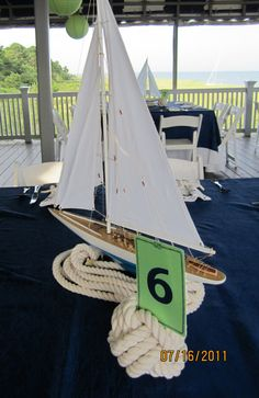 Ship Decor for wedding