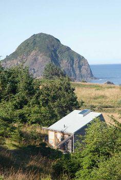 solar Oregon coast home with coastal scene
