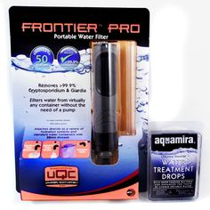 McNett Aquamira Frontier Pro Portable Water Filter Straw and Water Treatment Kit #McNett