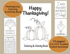 Thanksgiving Coloring & Activity Book by VividBlissPrintables