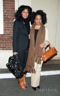 Tracee Ellis Ross & her sister Rhonda Ross at the arrivals for the Opening Night of the Broadway musical 'Passing Strange' at the Belasco Theatre