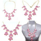 2012 Hot Bubble Bib Statement Necklace Lady Women Fashion Chain Pink - 2012 Hot Bubble Bib Statement Necklace Lady Women Fashion Chain Pink    Bubble bib Statement necklace  Condition:Brand new  Material:Resin & Alloy Color:as the pictures showed , S