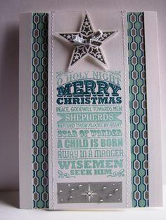 #stampin up - o holy night - simply stars - dp eiszauber - weihnachten -xmas card-geschenkband in silber
