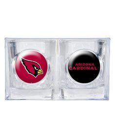 Loving this Arizona Cardinals Shot Glass Set on #zulily! #zulilyfinds