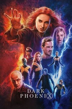 High resolution official theatrical movie poster ( of for Dark Phoenix Image dimensions: 1382 x Starring Sophie Turner, James McAvoy, Michael Fassbender, Jennifer Lawrence James Mcavoy, Dark Phoenix, Phoenix Xmen, Michael Fassbender, Charles Xavier, Jean Grey, Man Movies, Movies To Watch, Movie Tv