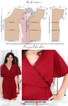 Diy Clothing, Clothing Patterns, Sewing Patterns, Diy Vestido, Sewing Blouses, Make Your Own Dress, Techniques Couture, Dress Making Patterns, Diy Dress