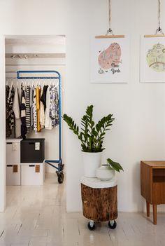 Hangers make it easy to swap prints around