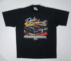 1990 Dale Earnhardt T Shirt tee neon black by JaybrrdsWhatnots