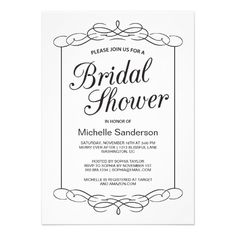 Hosting a bridal shower for your daughter, best friend or sister? Design bridal shower invitations to send out to all her friends and family! Couples Shower Invitations, Elegant Bridal Shower, Couple Shower, Vintage Frames, Rsvp, Announcement, Place Card Holders, Showers, Brunch