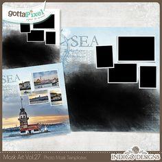 Designer Spotlight & Daily Download 6/17/16 - Gotta Pixel :: MaskArt Templates 2in1 Vol.27  by Indigo Designs