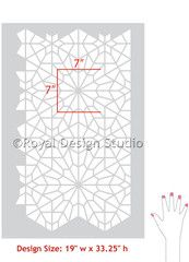 Allover Wall Stencil Starry Moroccan Night - Royal Design Studio - www.royaldesignstudio.com