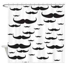 Mustache - Mustaches Shower Curtain for