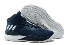 27a6503773a6 2018 adidas D Rose 8 Navy Blue White Women s Size Free Shipping Blue And  White
