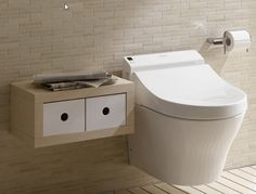 Captivating Toto Washlet For Contemporary Bathroom Design: Charming Toilet Design Using Toto Washlet Plus Wall Mounted Cabinet And Tile Wall Contemporary Bathroom Designs, Modern Bathroom, Design Bathroom, Bathroom Trends, Bathroom Renovations, Toilet For Small Bathroom, Renovation Design, Toto Toilet, Wall Mounted Toilet
