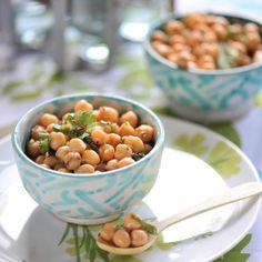 Découvrez la recette de la salade de pois chiches à la coriandre et au cumin