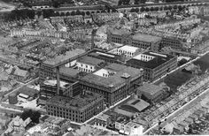 View of The W.O Wills cigarette factory in Bristol. This archive image dated Many fo these building have been demolished but some reamin in new use Liberty Tree Tavern, Domesday Book, Bristol Channel, Bristol England, North Somerset, City Of Bristol, Hill Station, City Photo, The Neighbourhood