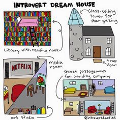 Introvert Dream Home - just add an indoor pool and I'll take it!