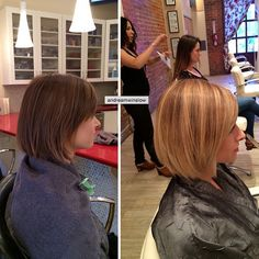 Check out this gorgeous brunette to blonde transformation!