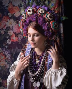 Traditional Ukrainian Crowns. Ukrainian culture, Ukrainian traditions, Ukrainian…