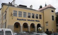 Augustiner Beer Garden, Salzburg, Austria ~ the beer garden is next to this building which houses the food vendors.