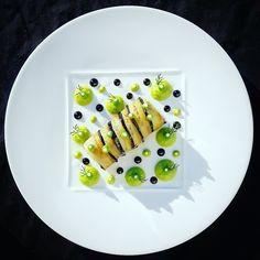 Crumbled Cod Cannelloni, Creamy Pea