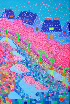 """""""Spring Street"""". Size:23.6 - 15.7 Inch (60 - 40 cm)