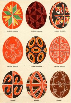 Russian egg pattern designs