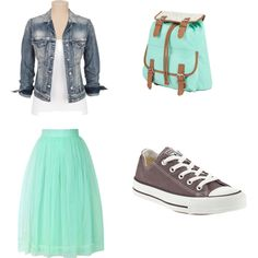 Don't you love mint?? :) by lars0901 on Polyvore featuring moda, Silver Jeans Co., Chicwish and Converse