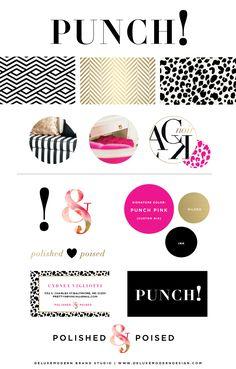 Deluxemodern Brand Studio | Punch! Identity
