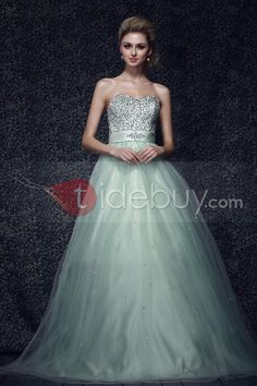 Amazing Sweetheart Floor Length Sequins Dashas Prom/Quinceanera/Ball Gown Dress