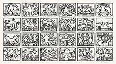 Retrospect B&W by Keith Haring