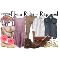 Flynn Rider + Rapunzel, created by lalakay on Polyvore #disney
