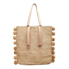 Loeffler Randall SS17 –Cruise Tote in Natural with Raffia Front