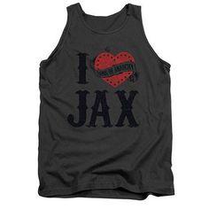 Sons Of Anarchy I Heart Jax Gray Tank Top