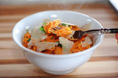 Pasta with Roasted Red Pepper Sauce