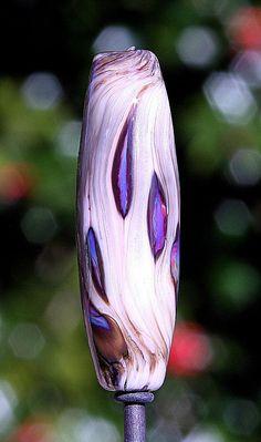 Smoky Sparks Handmade Lampworked Glass Bead OOAK by ninaeagle, $20.99