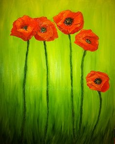 Poppy Painting Stage 2 | Art Chick Studio