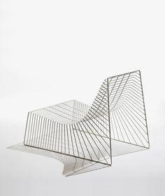 Niels Hvass * Deco Findings * The Inner Interiorista Iron Furniture, Design Furniture, Chair Design, Geometric Furniture, Automotive Furniture, Automotive Decor, Smart Furniture, High Back Dining Chairs, Mid Century Furniture