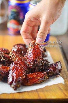Who doesn't love wings?)O~ My oven roasted chicken wings are simple and easy to make but still loaded with tons of flavors. (Chicken And Rice Oven) Oven Roasted Chicken Wings, Cooking Chicken Wings, Chicken Wing Recipes, Southern Baked Chicken Recipe, Teriyaki Chicken Wings, Wings In The Oven, Pasta, Appetizer Recipes, Appetizers