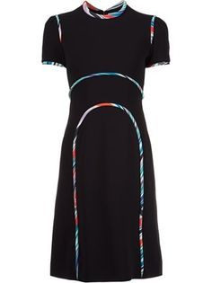 Mary Katrantzou rainbow cloud seam dress