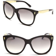 Jimmy Choo Sunglasses With Metal ($295) ❤ liked on Polyvore