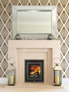 Wood burning fires, built-in stoves, inset stoves. Contemporary design, UK made. Burns multifuel or wood. Fireplace Built Ins, Stove Fireplace, Fireplace Mantels, Tiled Fireplace, Fireplace Ideas, Mantle, Focus Fireplaces, Boiler Stoves, Inset Stoves
