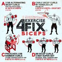 4 Exercise Fix - Bicep workout routine #bicepworkout #bicepexercises #arms