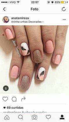 Pin by Kayla Gunn on Nails in 2019 Nail Art Design Gallery, Nail Art Designs, Toe Nails, Pink Nails, Beauty Nails, Hair Beauty, Cute Nail Art, Beautiful Nail Designs, Shellac