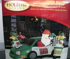 Airblown Inflatable Christmas Dale Earnhardt Jr 88 Car